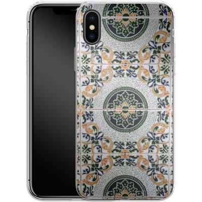 Apple iPhone X Silikon Handyhuelle - Yellow and Green Tiles von Omid Scheybani