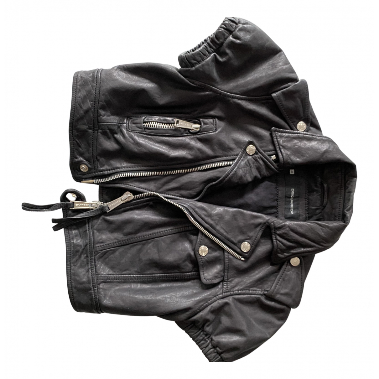 Dsquared2 \N Lederjacke in  Schwarz Leder