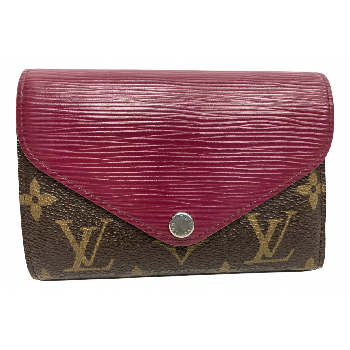 Louis Vuitton \N Portemonnaie in  Lila Leinen