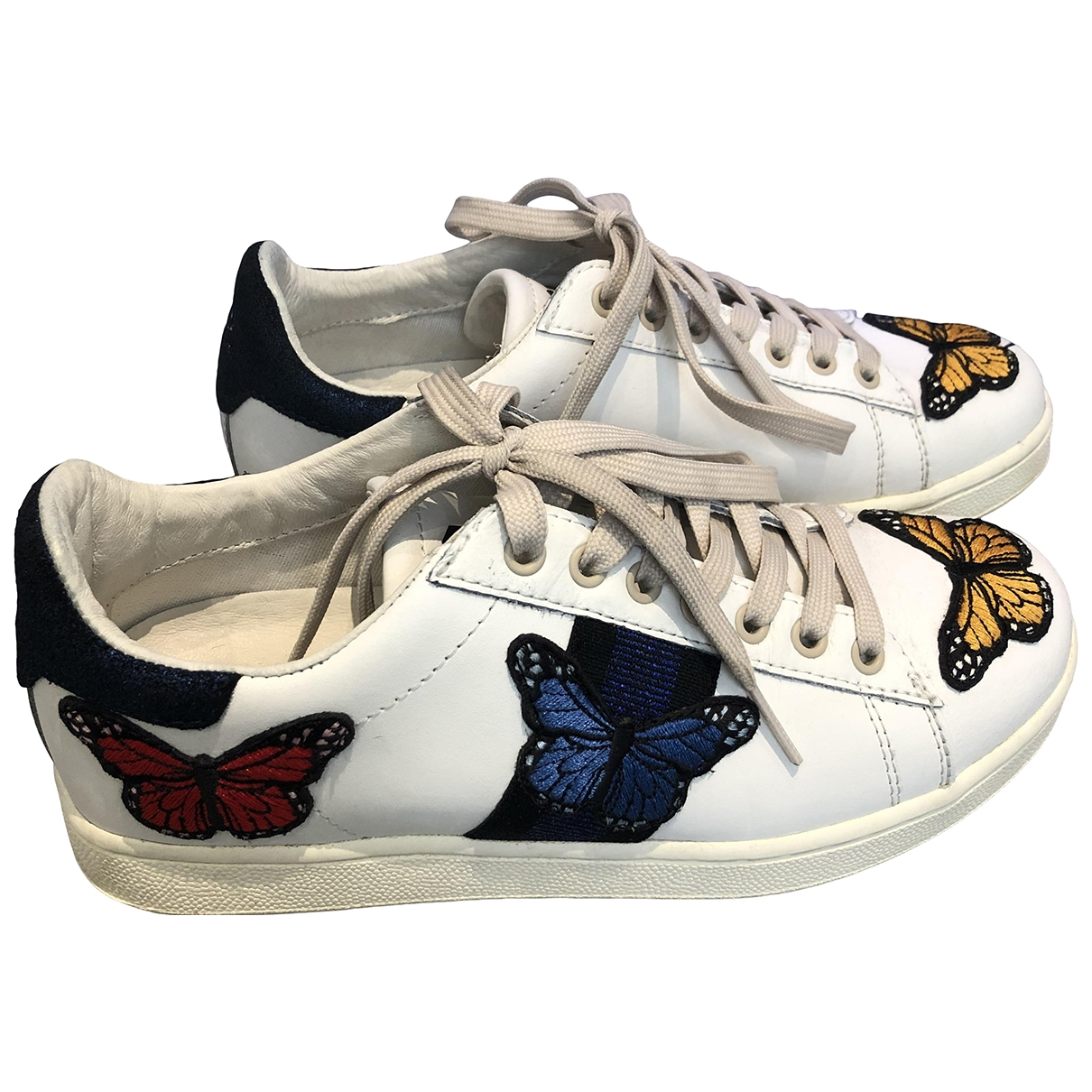 Moa Master Of Arts \N White Leather Trainers for Women 37 EU