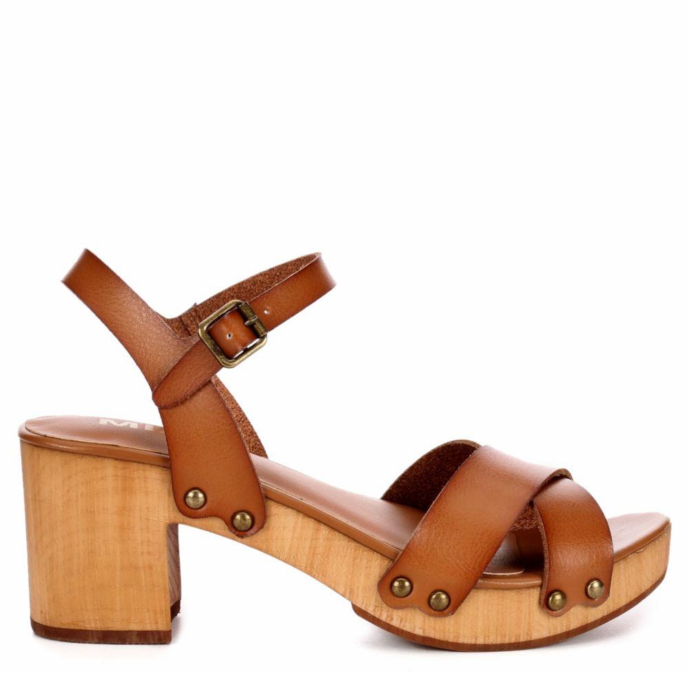Mia Womens Susan Wooden Sandal Blockheel Shoes