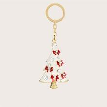 Schluesselbund mit Weihnachtsbaum Anhaenger