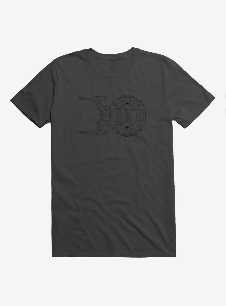 Star Trek NX-01 Ship Outline Side T-Shirt