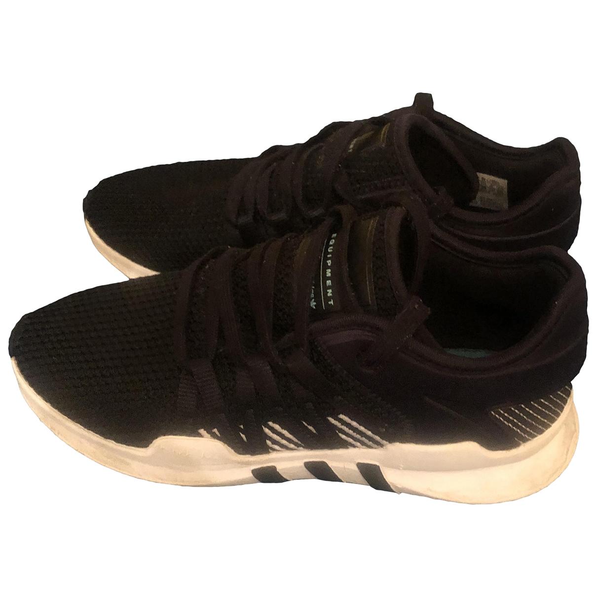 Adidas - Baskets EQT Support pour femme en cuir - noir