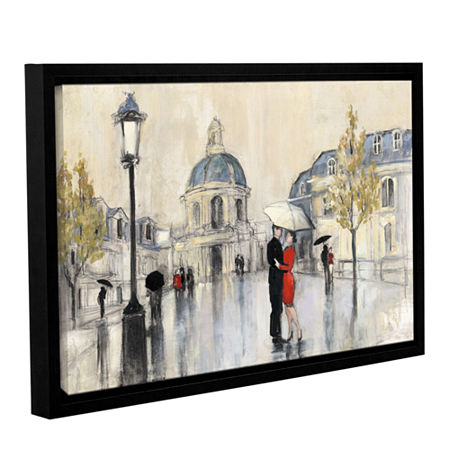 Brushstone Spring Rain Paris Gallery Wrapped Floater-Framed Canvas Wall Art, One Size , White