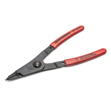 GearWrench Pliers, Fixed Tip Retaining Ring, External with Straight 0.038# Tip, 5-7/16#