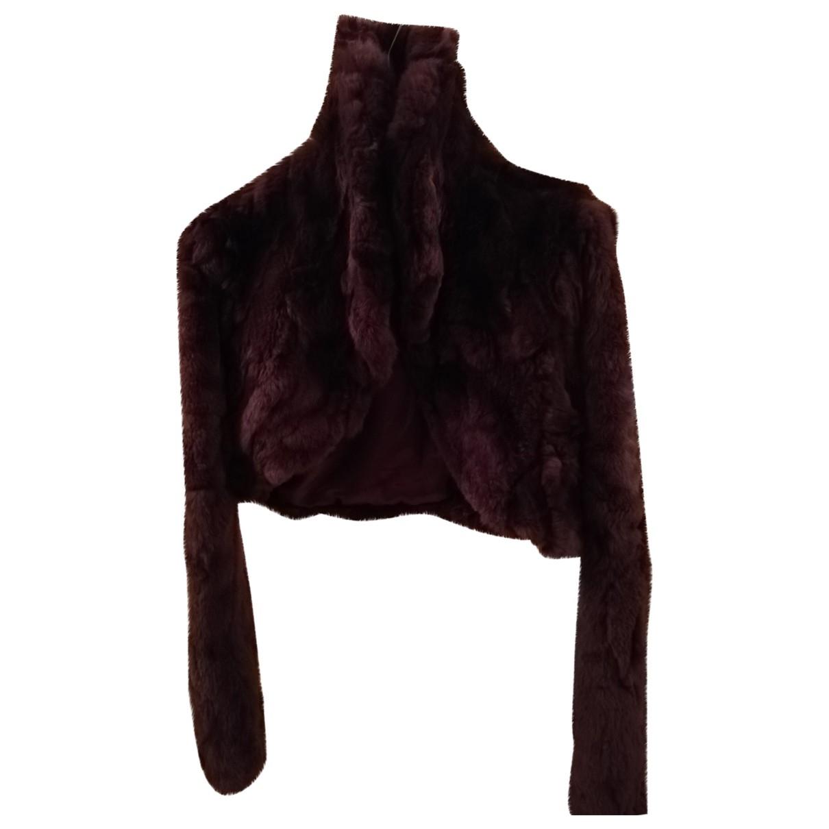 - Veste   pour femme en lapin - violet