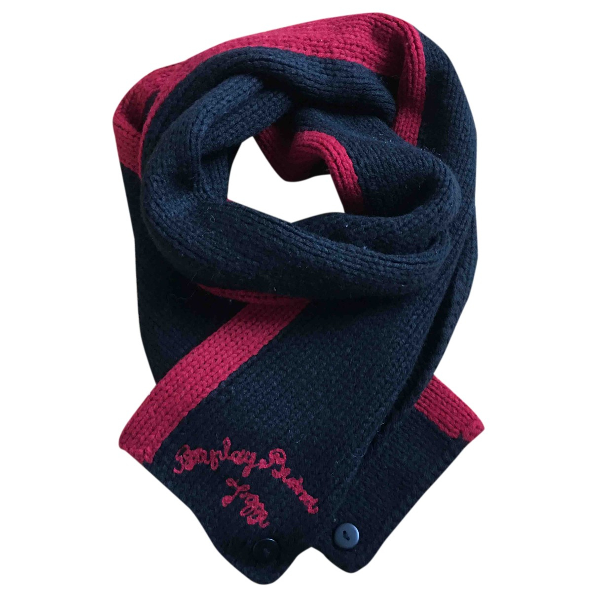 Replay N Black Wool scarf & pocket squares for Men N
