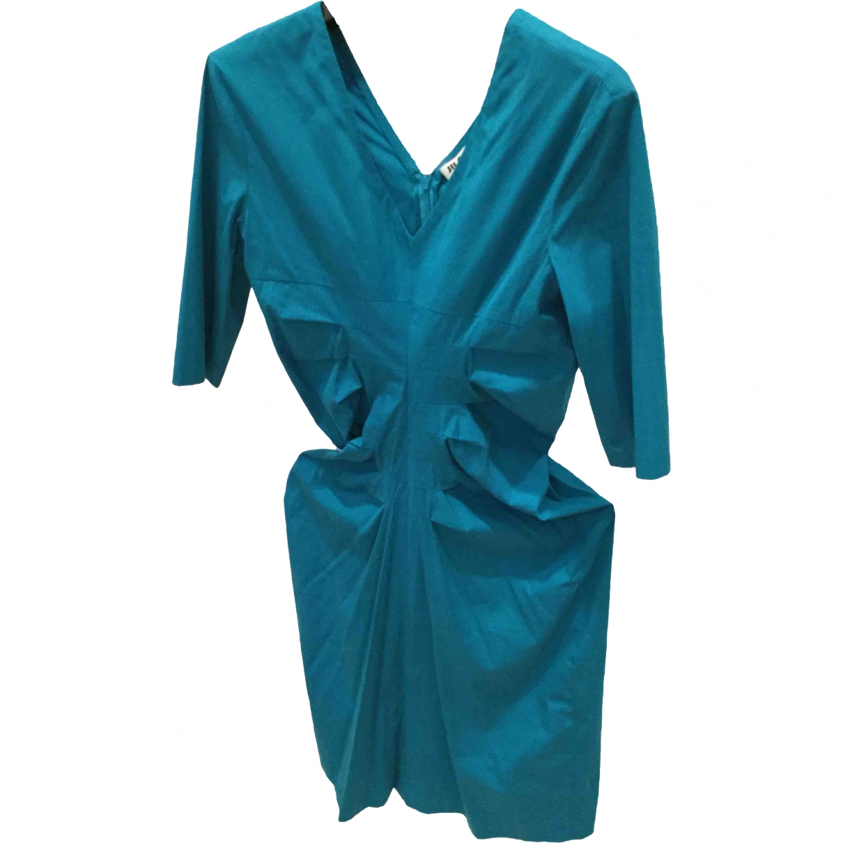 Jil Sander \N Turquoise Cotton dress for Women 40 IT