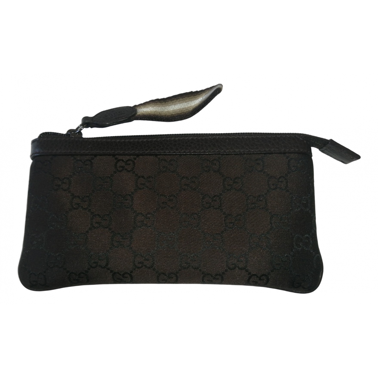 Gucci \N Brown Cloth Clutch bag for Women \N