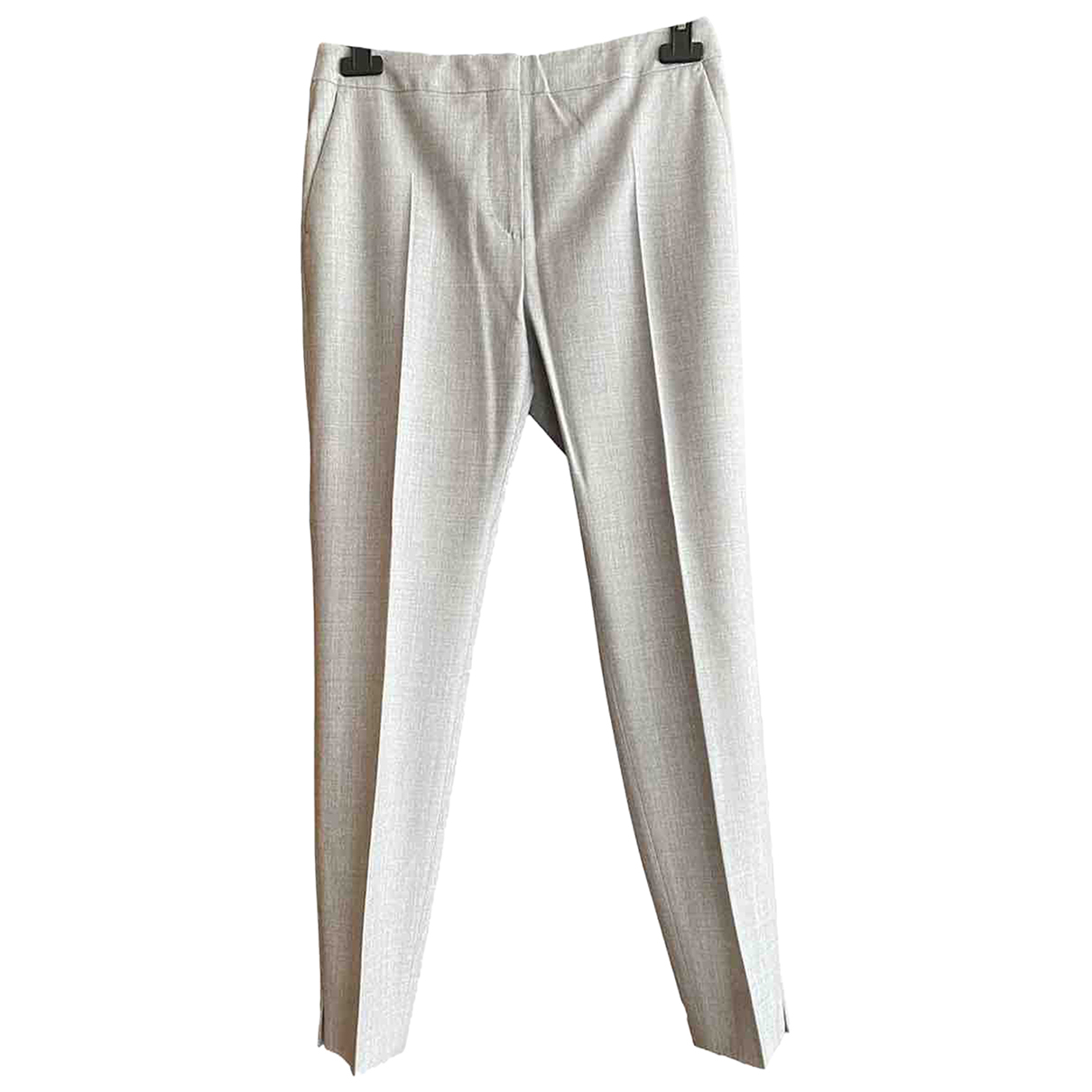 Max Mara N Grey Wool Trousers for Women 38 IT