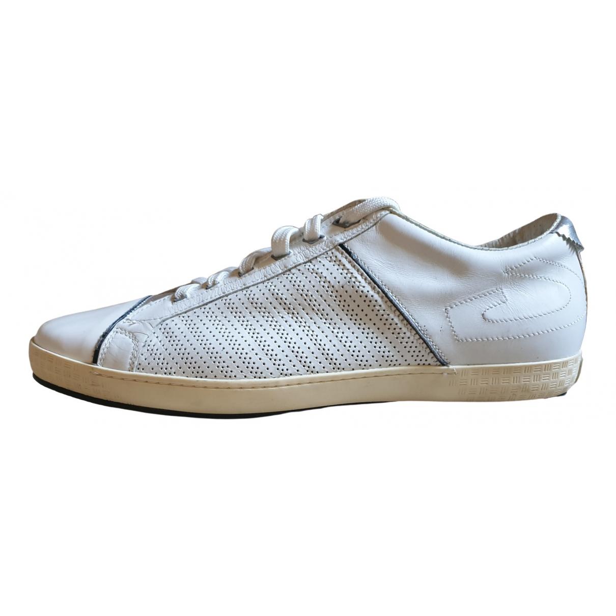 Alberto Guardiani - Baskets   pour femme en cuir - blanc