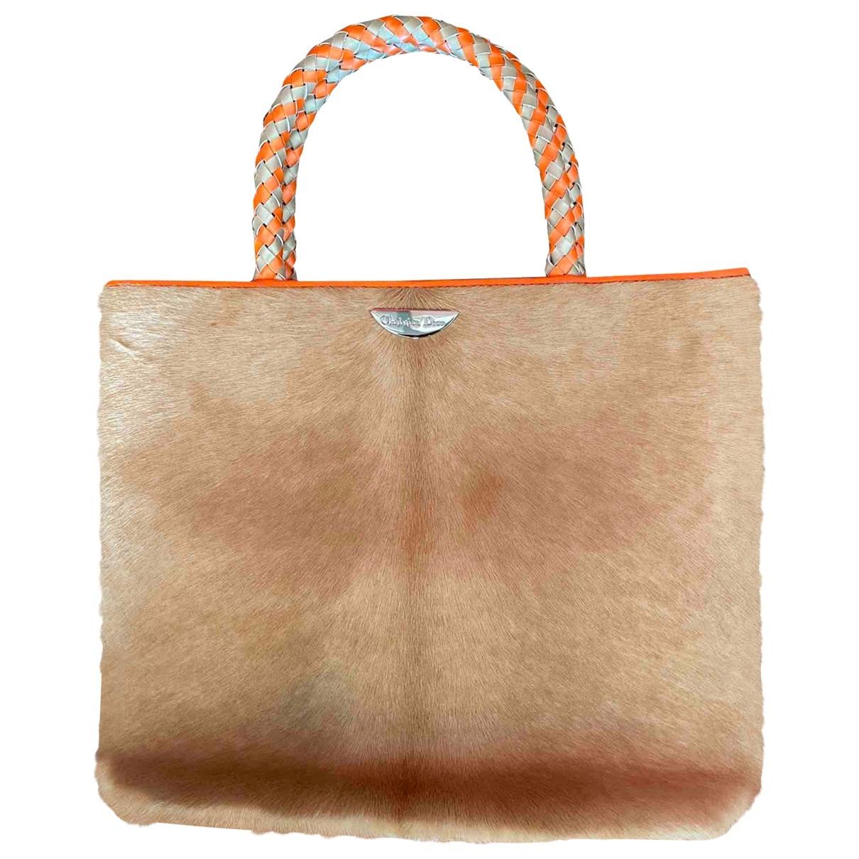 Dior \N Beige Pony-style calfskin handbag for Women \N