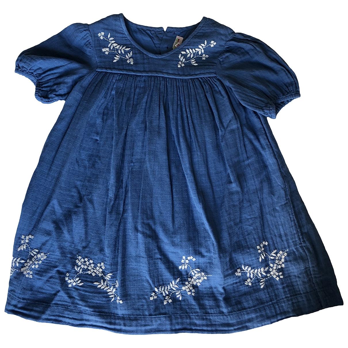 Bonpoint - Robe    pour enfant en coton - bleu