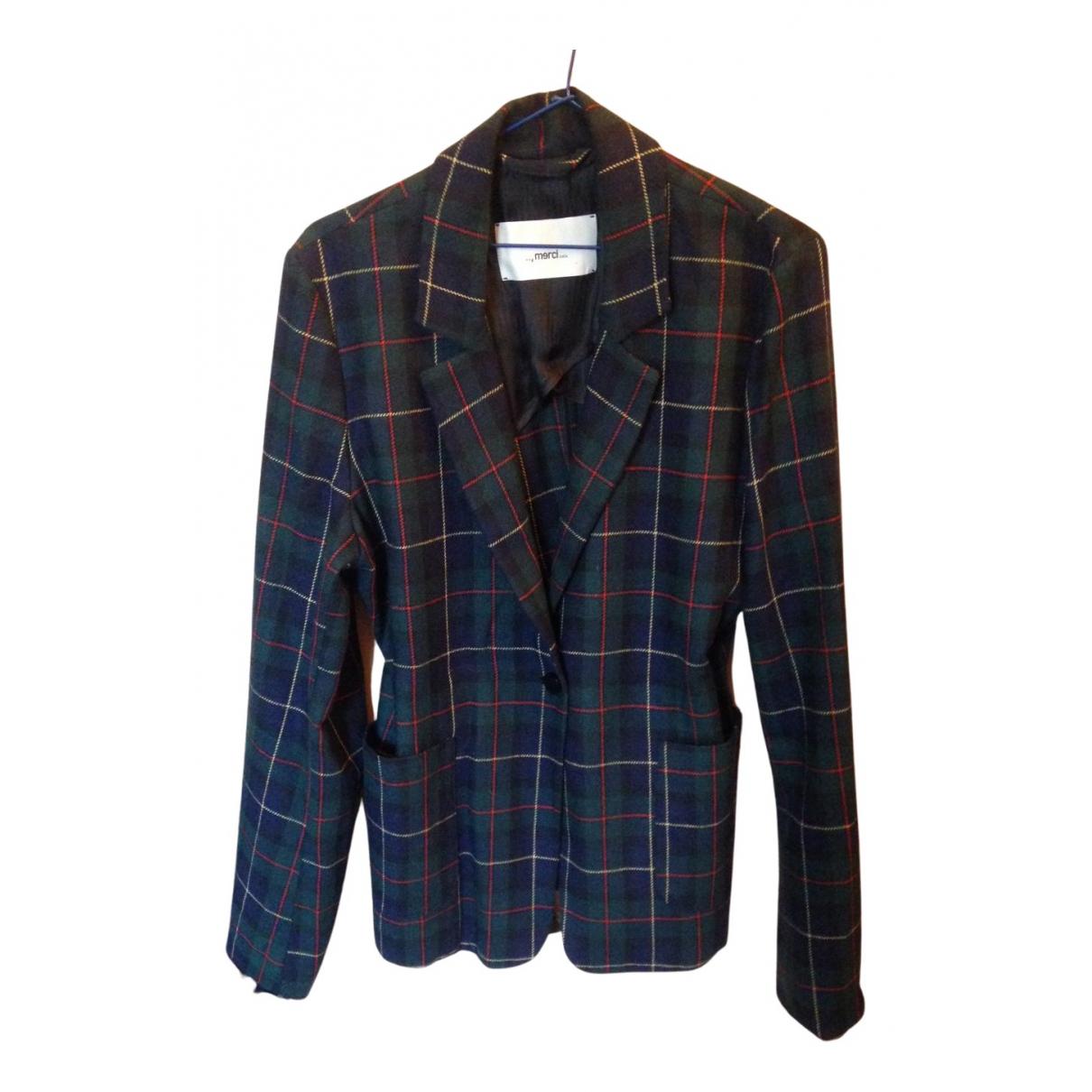 Merci N Green Wool jacket for Women 46 IT