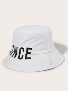 Men Letter Embroidered Bucket Hat