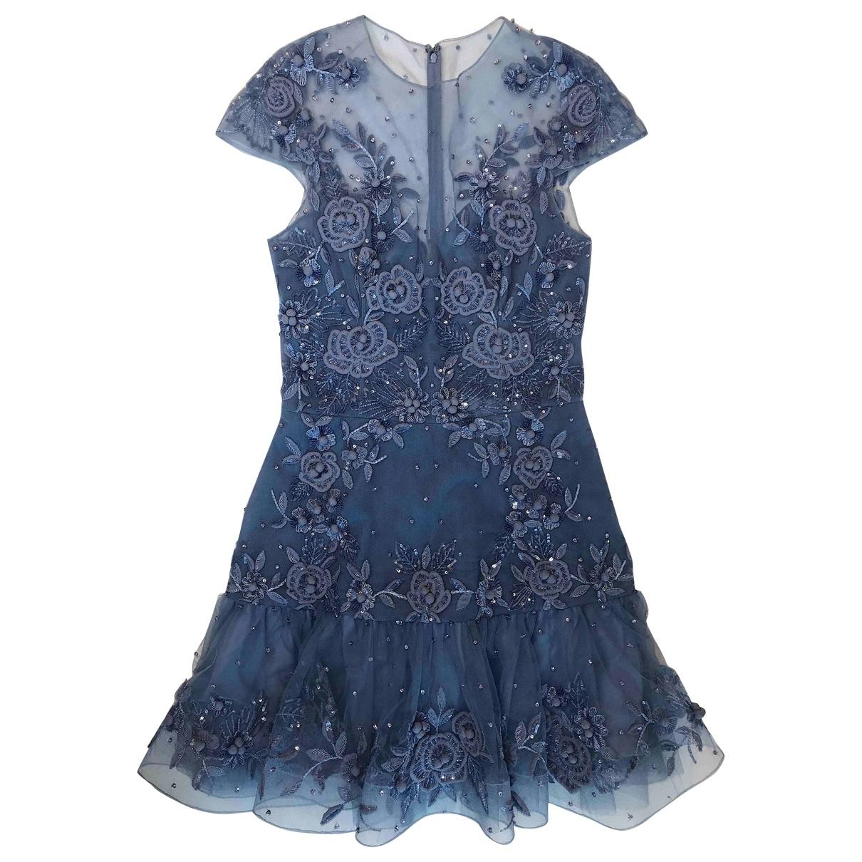 Zuhair Murad \N Kleid in  Blau Seide