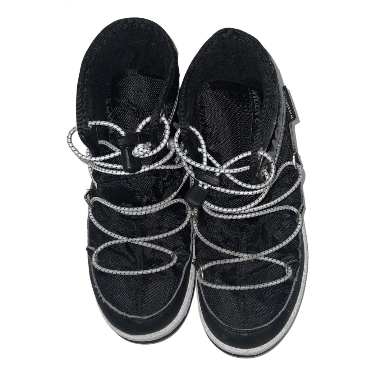 Moon Boot - Bottes.Bottines   pour enfant - noir