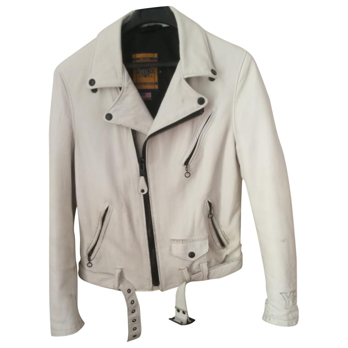 Yohji Yamamoto \N White Leather jacket for Women L International