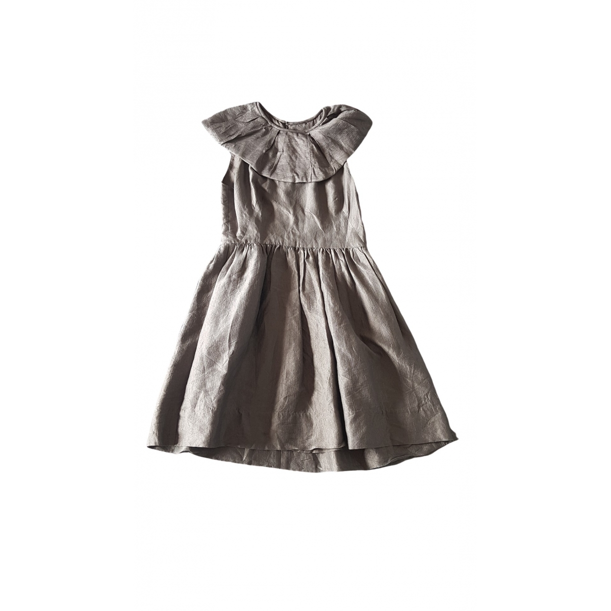Philipp Plein \N Kleid in  Silber Seide