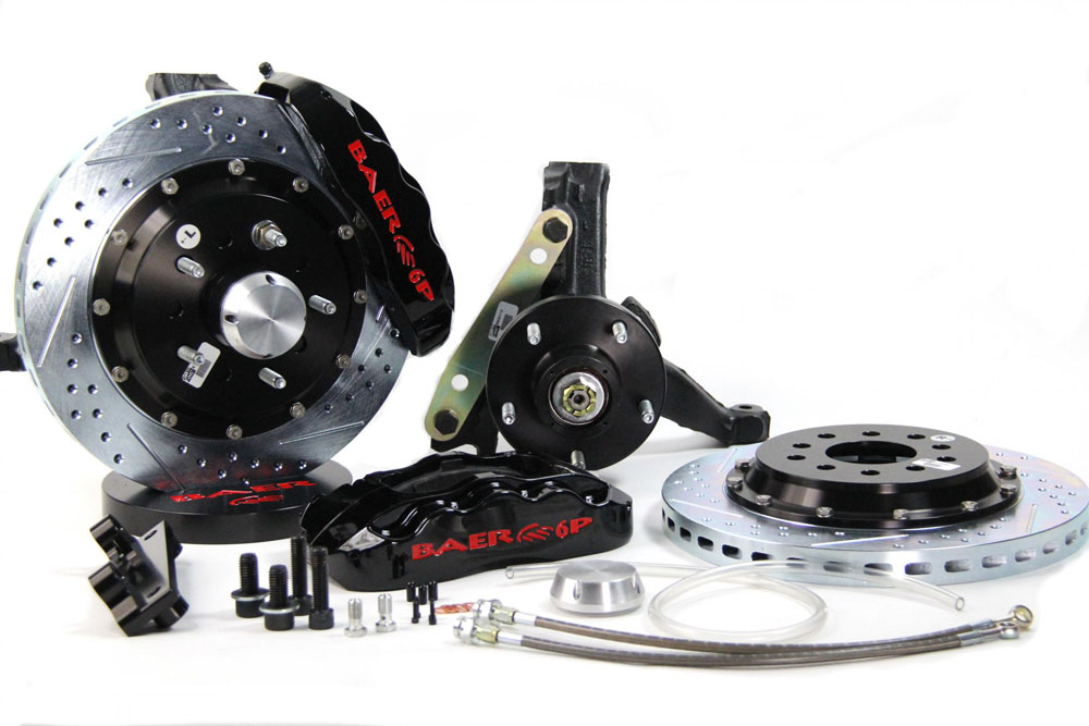 Baer Brakes Brake System 13 Inch Front Pro+ Black 94-96 GM B Body