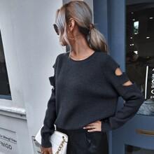 Pullover mit Ausschnitt und Raglanaermeln