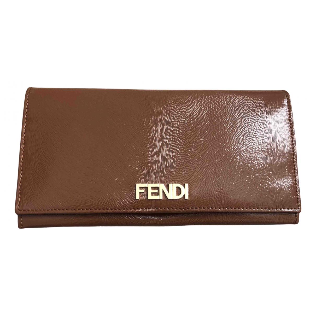 Fendi N Brown Patent leather wallet for Women N
