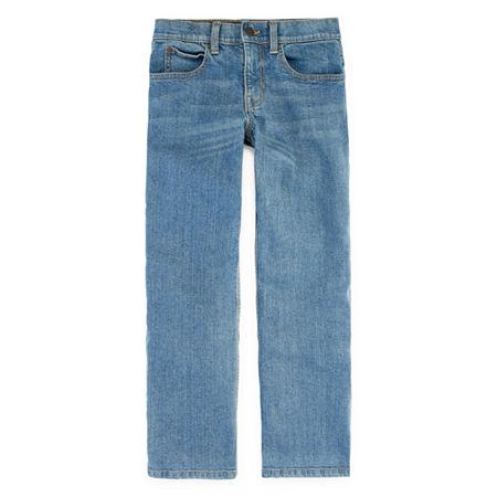 Arizona Flex Little & Big Boys Straight Stretch Relaxed Fit Jean, 12 Husky , Blue