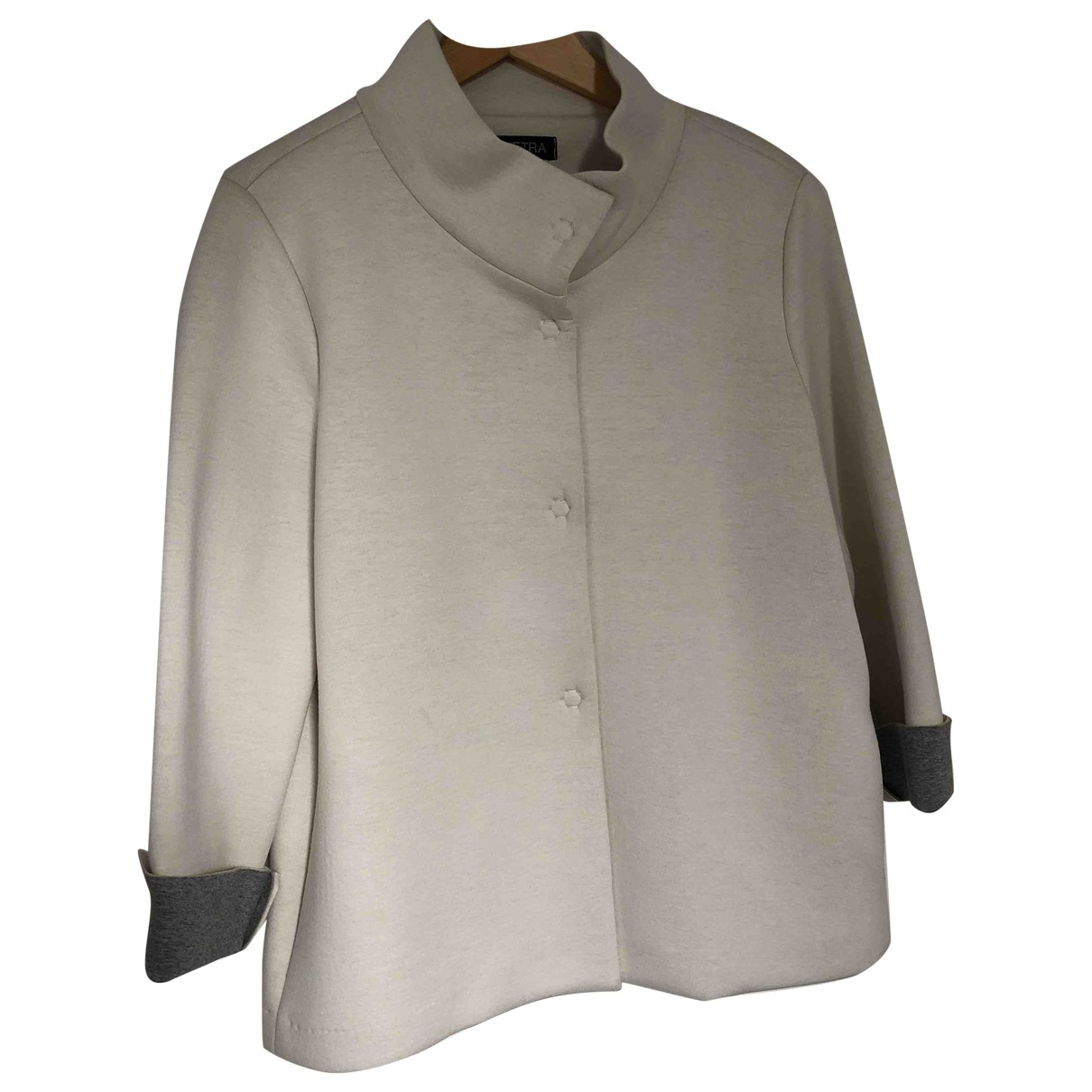 Non Signé / Unsigned \N White jacket for Women L International