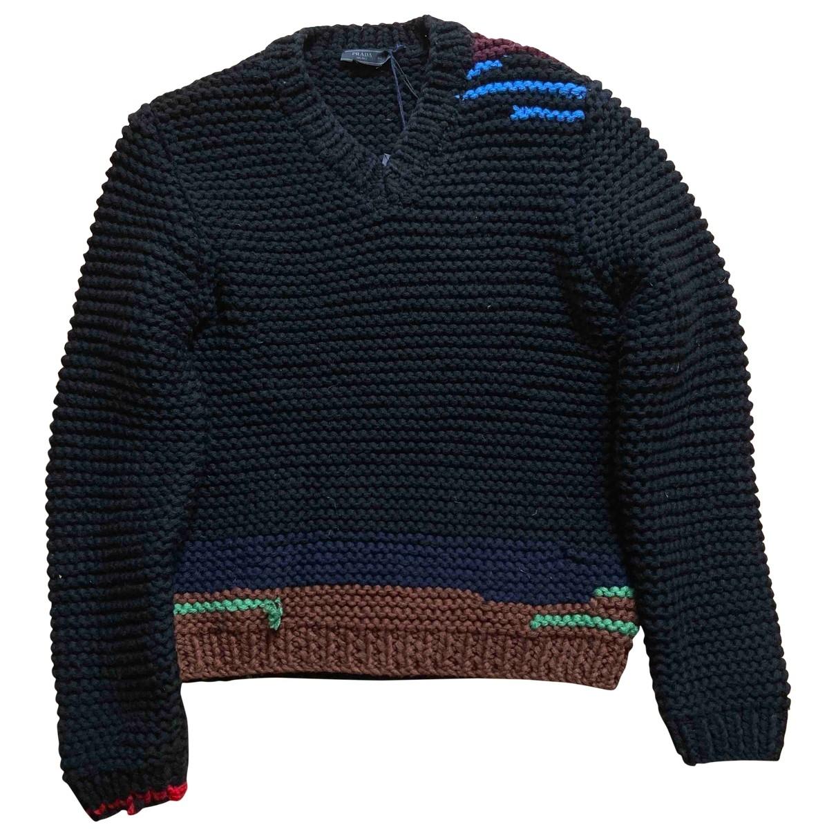 Prada \N Black Wool Knitwear & Sweatshirts for Men 48 IT