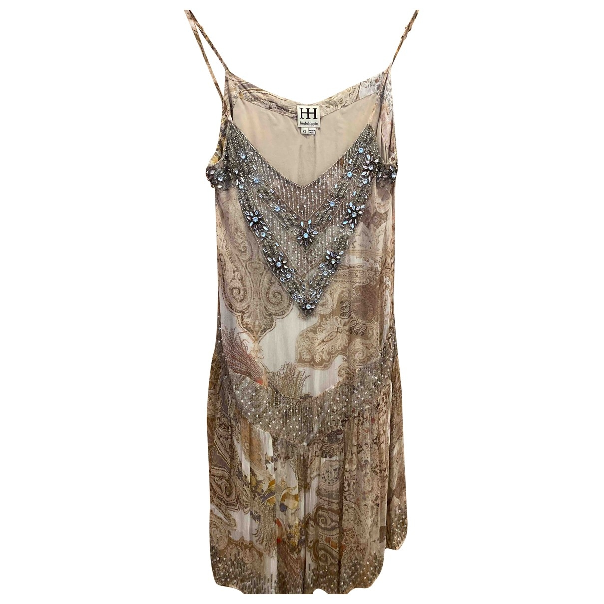 Haute Hippie \N Kleid in  Beige Seide