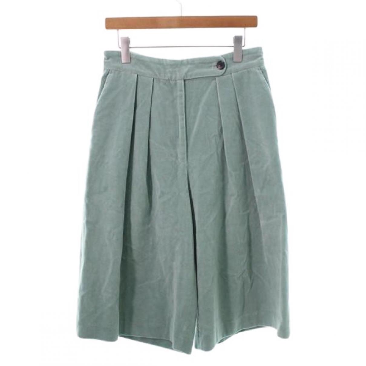 Dries Van Noten \N Blue Cotton skirt for Women 38 FR