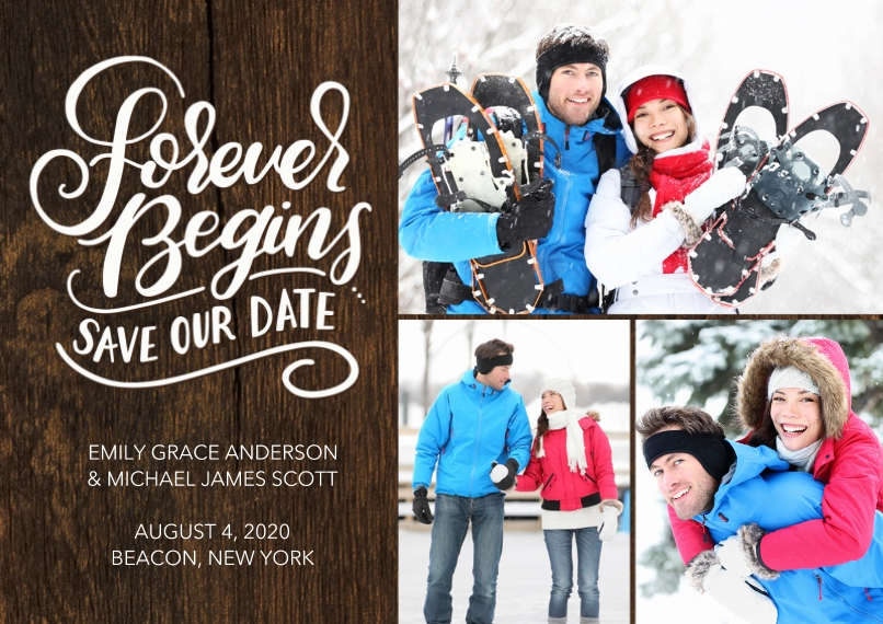 Save the Date Flat Matte Photo Paper Cards with Envelopes, 5x7, Card & Stationery -Save our Date Forever by Tumbalina