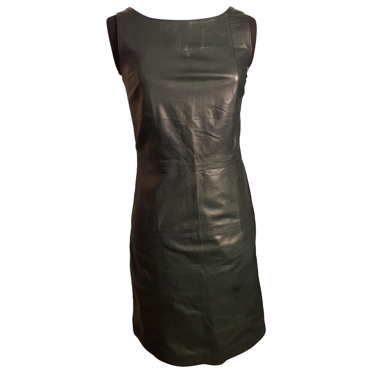 - Robe   pour femme en cuir - vert
