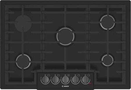 NGM8046UC 30 800 Series Gas Cooktop with 5 Sealed Burners  Cast Iron Grates  Black Stainless Steel Knobs  ADA Compliant  Continuous Grates  CSA