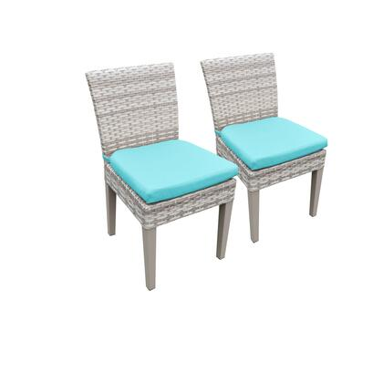 TKC245b-ADC-C-ARUBA 2 Fairmont Armless Dining Chairs with 2 Covers: Beige and