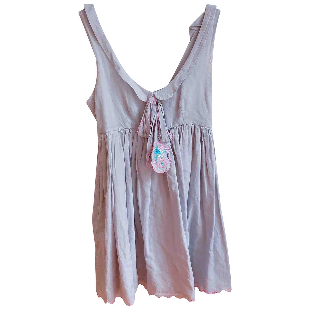 Manoush \N Grey Cotton dress for Women 36 FR