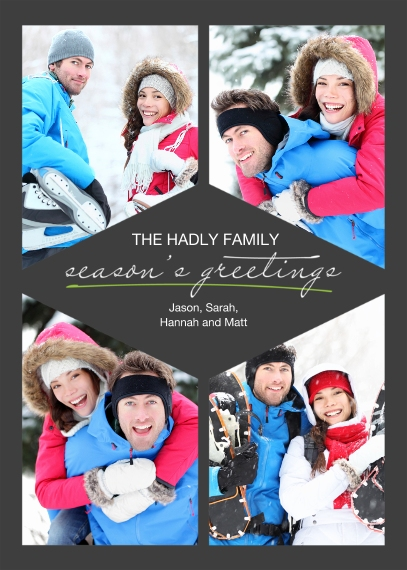 Holiday Flat Glossy Photo Paper Cards with Envelopes, 5x7, Card & Stationery -Repeat Script