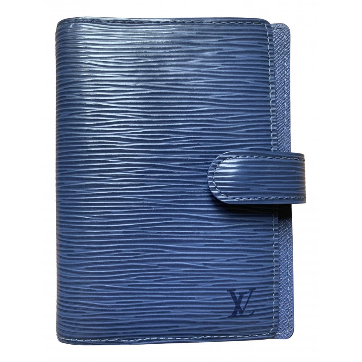 Louis Vuitton Couverture d'agenda PM Blue Leather Home decor for Life & Living \N