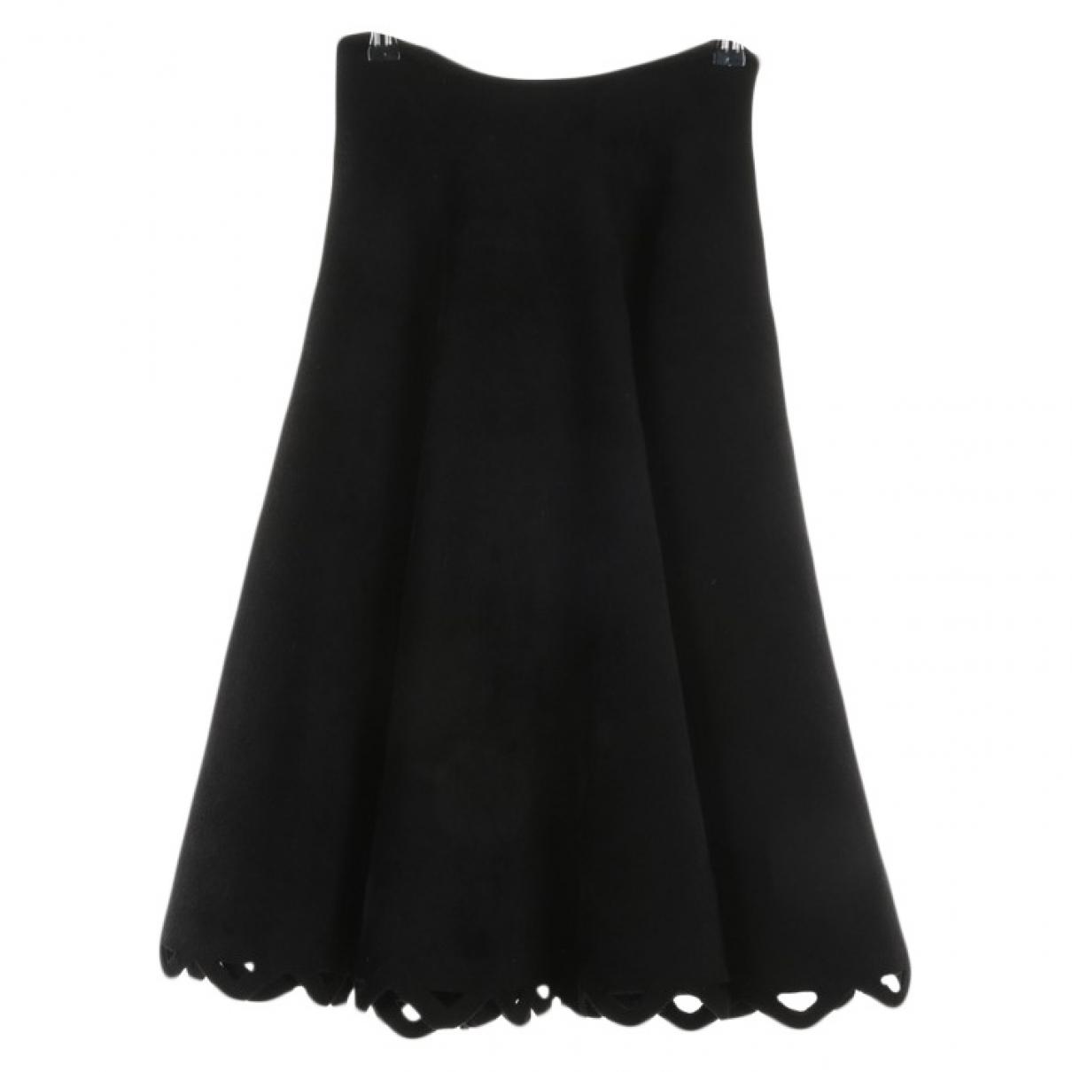 Alaia - Jupe   pour femme en laine - noir