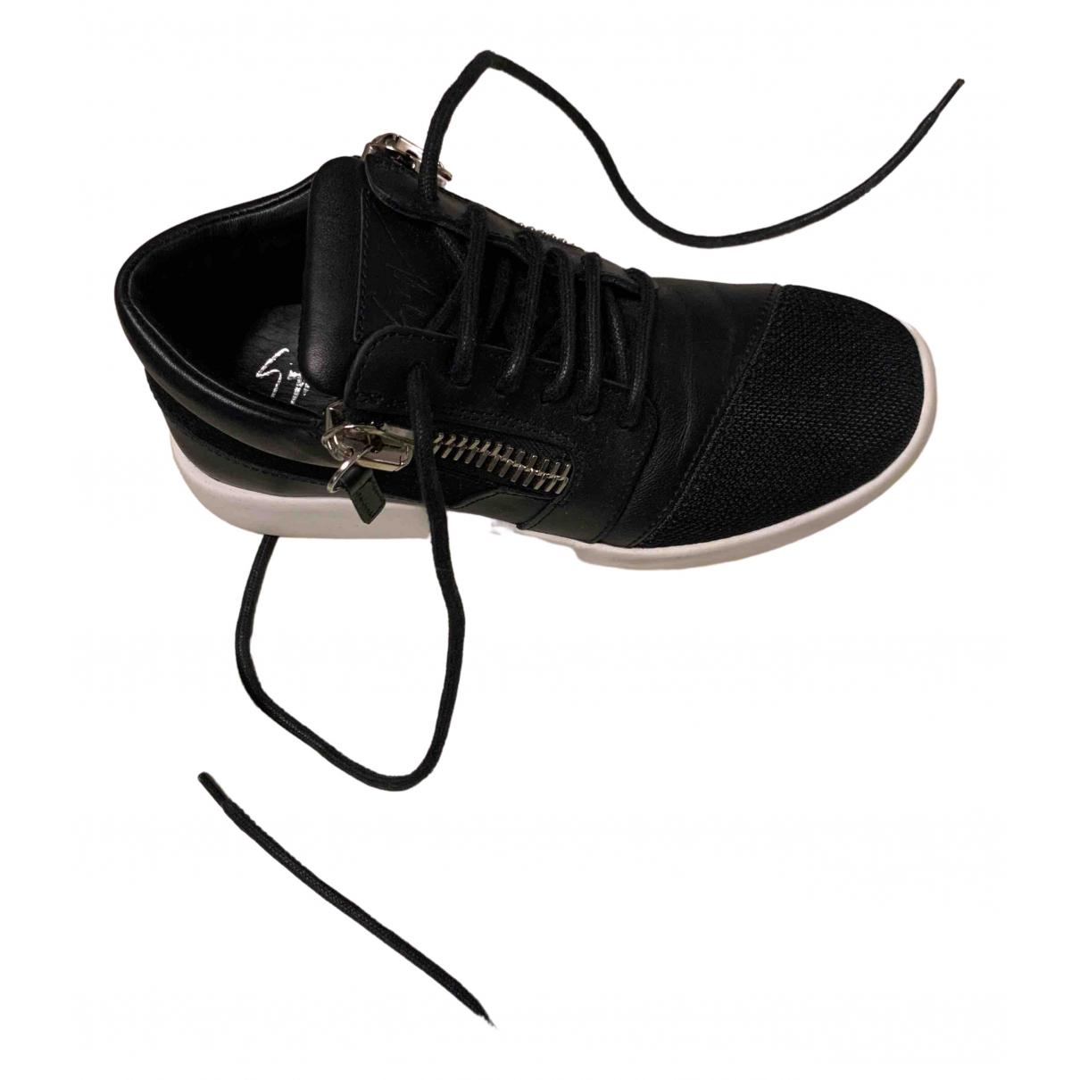 Giuseppe Zanotti - Baskets Nicki pour femme en cuir - noir