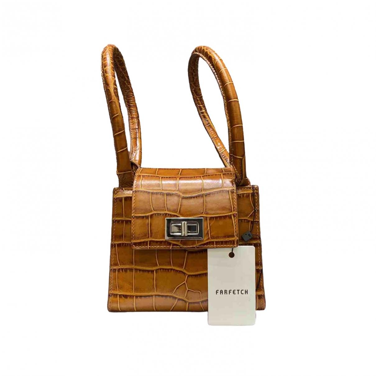 By Far \N Brown Leather handbag for Women \N