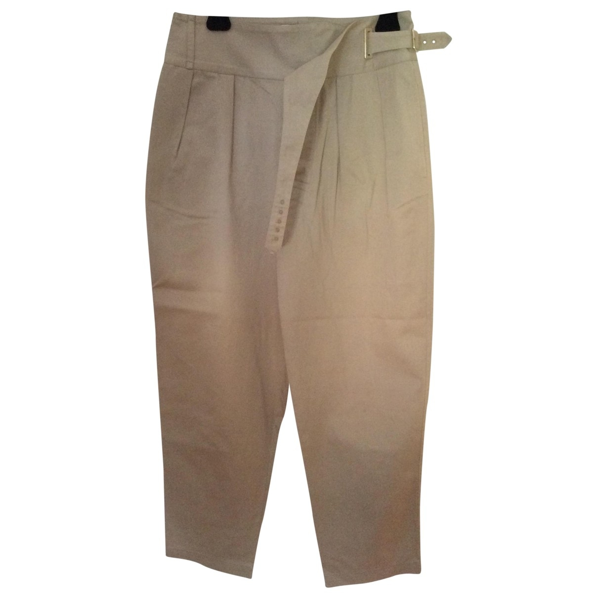 Givenchy \N Beige Cotton Trousers for Women 38 FR