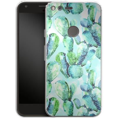 Google Pixel XL Silikon Handyhuelle - Cactus Tropicana von Mark Ashkenazi