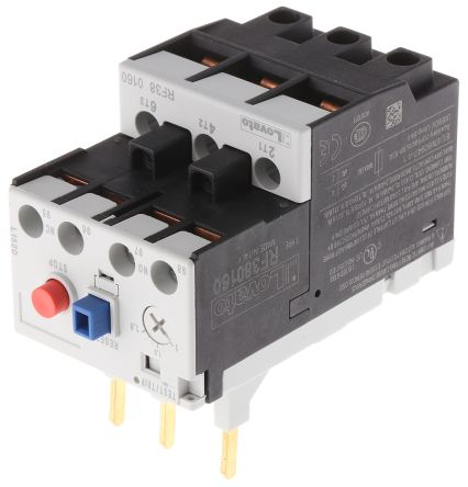 Lovato Thermal Overload Relay -, 1 → 1.6 A F.L.C, 1.6 A Contact Rating, 3P