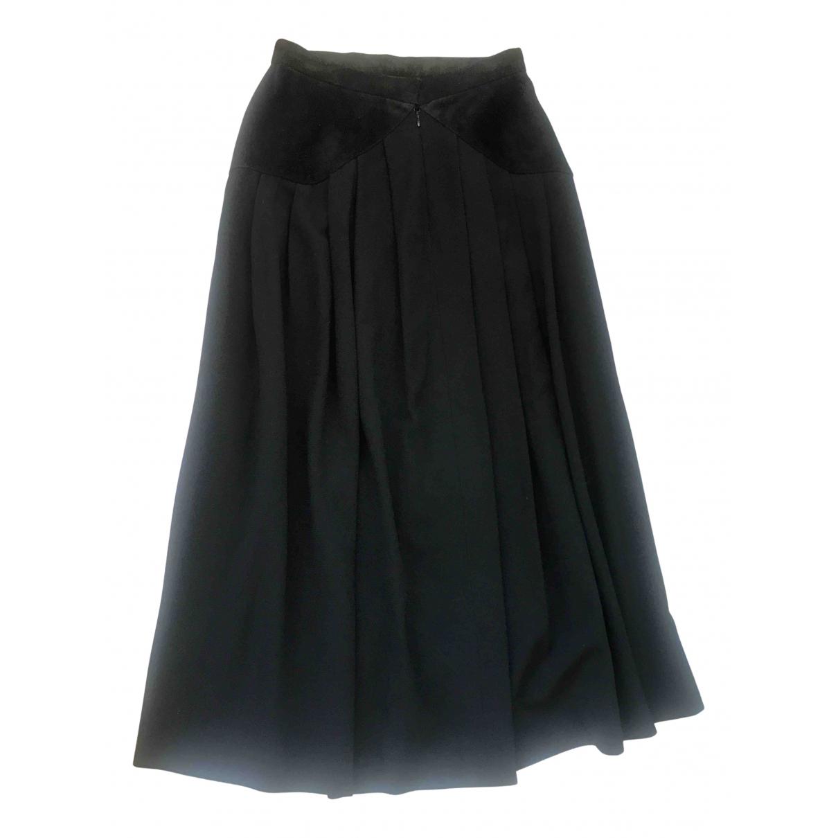 Falda maxi de Lana Yves Saint Laurent