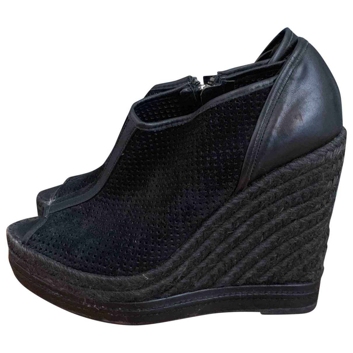 The Kooples \N Black Leather Espadrilles for Women 39 EU