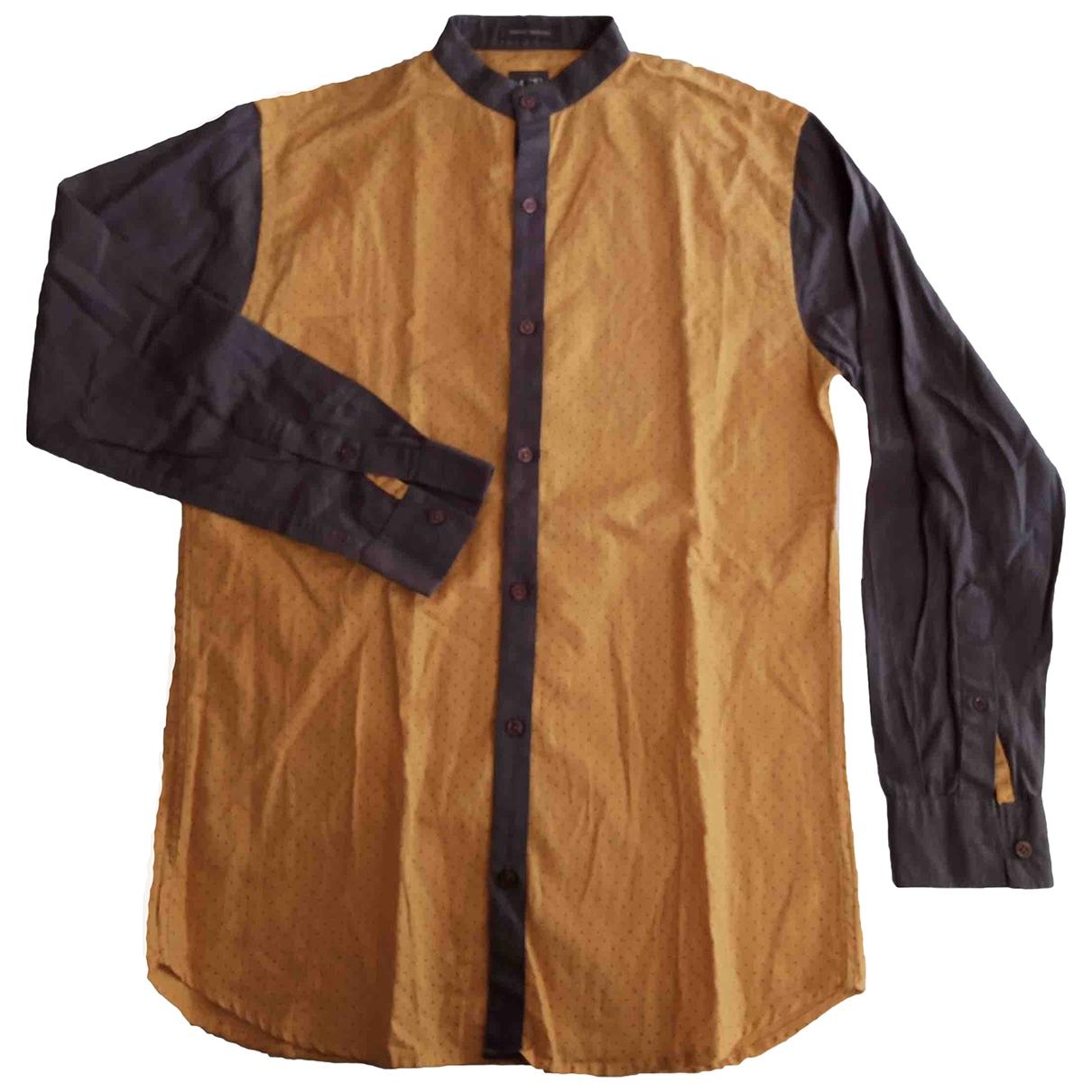 Emporio Armani \N Yellow Cotton Shirts for Men L International