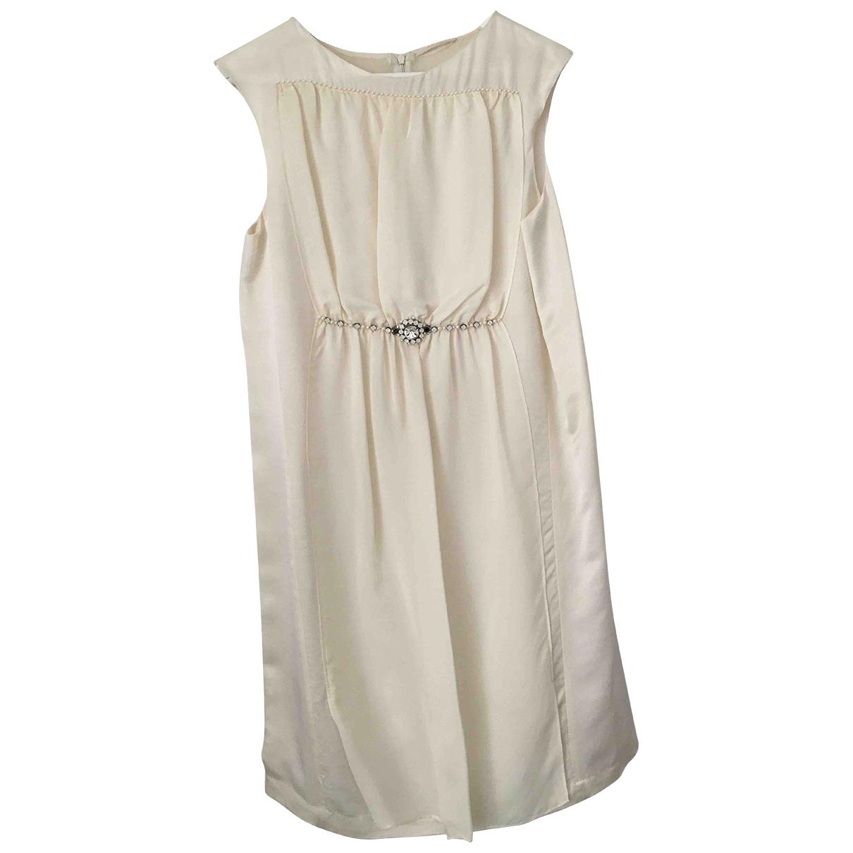 Amen Italy - Robe   pour femme en soie - blanc