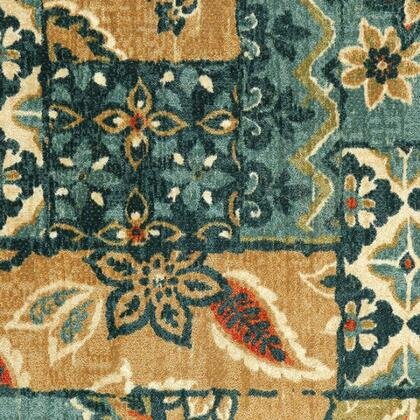 Greenville Collection RG8153S 5' X 8' Area Rug with Machine-made  Latex Backing and Made of Nylon in Multi